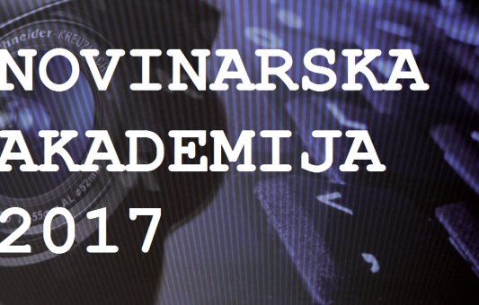 Javni poziv na dostavljanje prijava na Novinarsku akademiju 2017