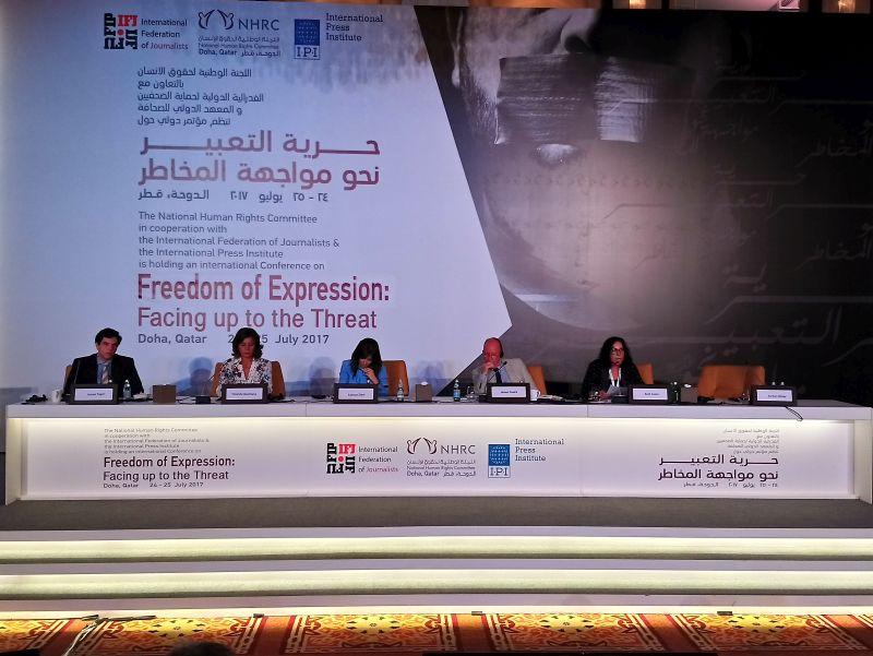 "Doha: BH novinari na međunarodnoj konferenciji ""Freedom of Expression: Facing up to the Threat"""