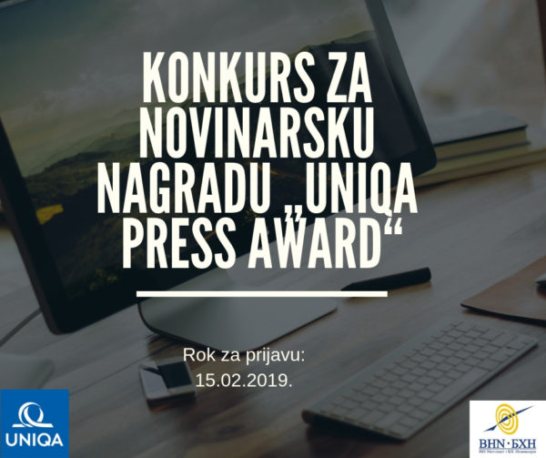 UNIQA Press Award – Konkurs za novinare/ke i blogere/ke