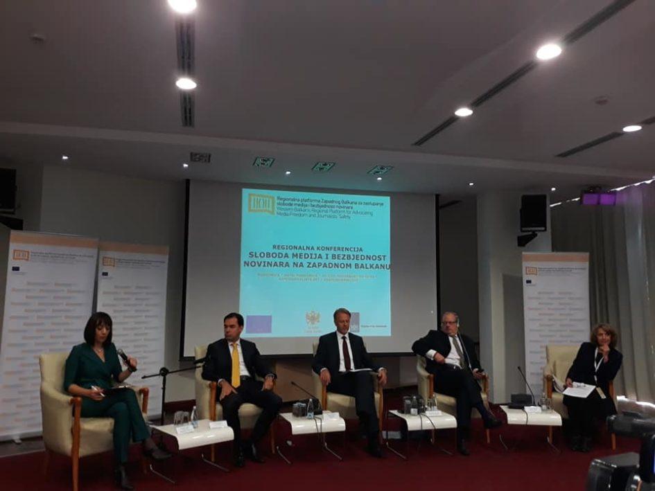 Konferencija o medijima Balkana: Apsolutna i beskompromisna sigurnost novinara