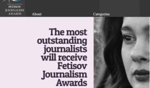 "Poziv na konkurs fondacije ""Fetisov"": Najviši nagradni fond u istoriji novinarstva"