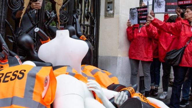 Francuska: Raskomadane lutke novinara ispred saudijske ambasade
