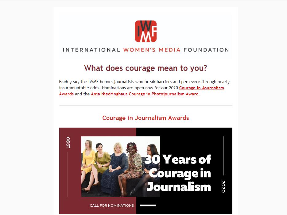 Konkurs za dodjelu nagrada za hrabrost novinarkama i ženama fotoreporterima