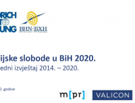 Freedom of the media in BiH 2020, FES and BHJA
