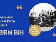 BIRN BiH wins European Press Prize Special Award 2020