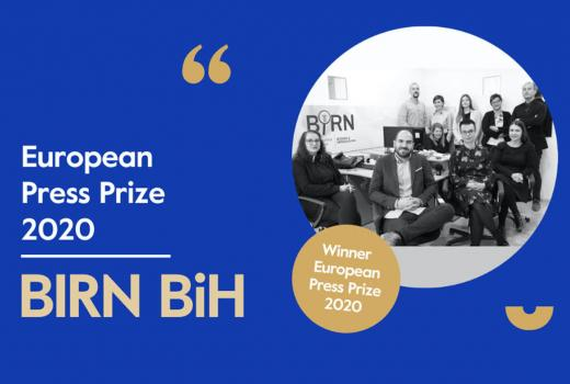BIRN BiH dobitnik Specijalne nagrade European Press Prize