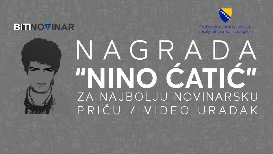"""Konkurs za dodjelu novinarske nagrade """"Nino Ćatić"""""""