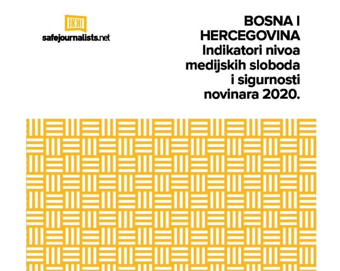 """Najava: Predstavljanje izvještaja """"Indikatori nivoa medijskih sloboda i sigurnosti novinara u BiH 2020."""""""