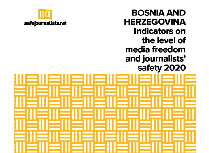 """Report """"Indicators on the level of media freedom and journalists' safety in BiH 2020"""""""