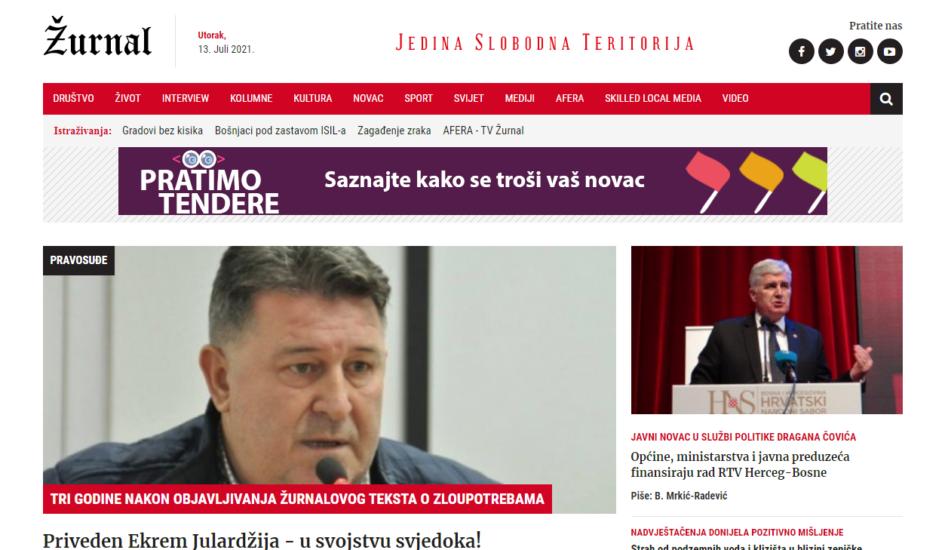 BH novinari: Presuda protiv magazina Žurnal direktno ugrožava slobodu i rad istraživačkih medija